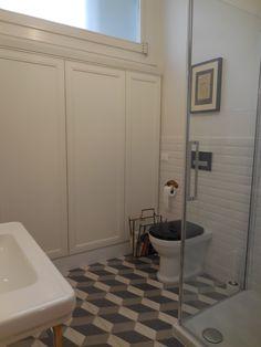 Maria Riemma_ Architect. 30ties inspiration for bathroom tiles. Geometric 3D cubes by Grandinetti