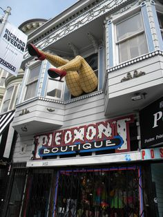 San Francisco Haight Ashbury District once known a gathering place of Hippies in the 1960's. Interesting place to shop.