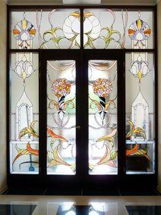 Stained glass door. Витражная дверь.Витражная мастерская Анатолия Тамакова +7(918)452-31-99 Витражи Тиффани Краснодар