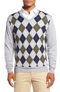 Bobby Jones Argyle Merino Wool V-Neck Sweater available at  Nordstrom  Merino Wool 0249caed15
