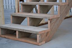 How-To Build Stairs - includes equation for determining rises and number of stairs needed.
