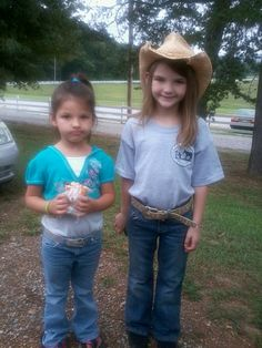 Country girls at cowboy church