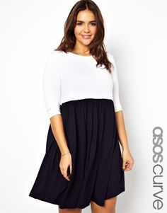 ASOS CURVE Exclusive Smock Dress In Colour Block - love the simplicity of this dress :)
