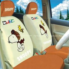 Peanuts Gang Snoopy Auto Car Front Rear Seat Cover Coat