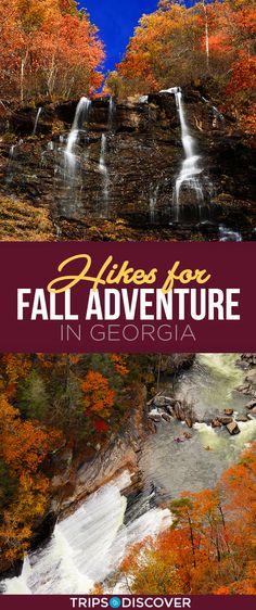Top 8 hikes for autumn adventure in Georgia - Destination vacances été 2019 Places To Travel, Places To See, Hiking In Georgia, Fall Vacations, Hiking Photography, Camping Life, Travel Usa, Paris Travel, Vacation Spots