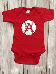 Razorback  Baseball Bodysuit for Baby Boy