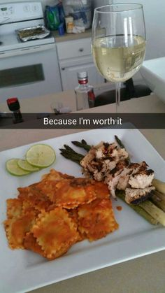 Cheese Ravioli w/ Roasted Asparagus & Grilled Lime Chicken