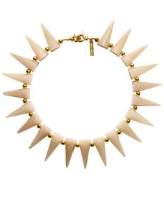 Eddie Borgo nude and gold cone necklace // The Extras: Natural Beauties & In the Buff