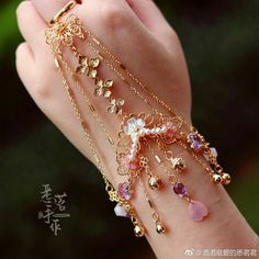 Girl Bracelet Top 20 in 2020 Fairy Jewelry, Magical Jewelry, Hand Jewelry, Fantasy Jewelry, Cute Jewelry, Body Jewelry, Bridal Jewelry, Jewelry Accessories, Jewelry Design