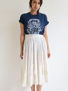Antique 1910's Skirt // Vintage Edwardian Summer Skirt