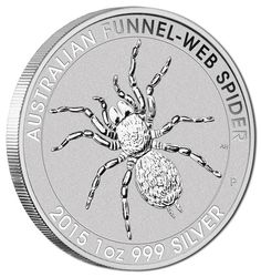 "Item specifics Seller Notes: ""Unsorted from Mint Sealed Tube – May Contain Higher Graded Coins"" Coin: Australian Funnel Web Spider Grade: BU Precious Metal Content: 1 oz . Bullion Coins, Silver Bullion, Mint Coins, Gold Coins, Australian Spider, Australian Animals, Funnel Web Spider, Silver Coins For Sale, 3d Cnc"