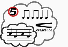 Music Content Cloud - Printable Music Bulletin Boards.  Cute clouds feature rhythms, melodies, and markings.
