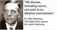 Dr. Otto Warburg, the Nobel Prize winner, has been found the real cause of cancer so long time ago. In fact, oxygen insufficiency is the major reason for the development of all cancer types. This actually means that the body will become acidic and this will accelerate the development of cancer if the lacks oxygen.