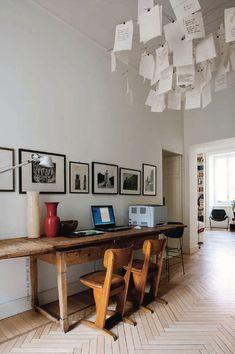 lustre plafond table longueur bureau