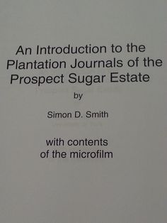 book written by a plantation owner