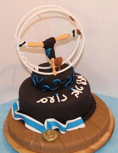Wheel Gymnastics Fondant Themed Cake