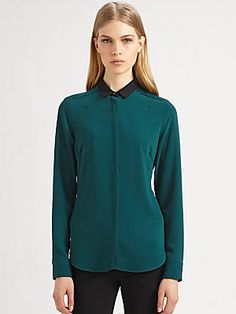 Costume National Contrast Collar Blouse
