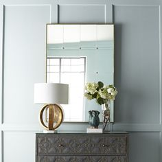 French Panel Mirror | Wisteria