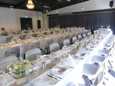 Shared Banquets and long tables - our favourite form of dining Long Tables, Rustic Charm, Real Weddings, Rustic Wedding, Centre, Home And Family, Table Settings, David, Dining