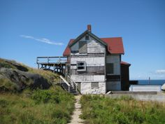 Abandoned Old Coast Guard house on Manana Is. across from Monhegan. Monhegan Island, Guard House, Coast Guard, Massachusetts, Abandoned, Nautical, Maine, House Styles, Photos