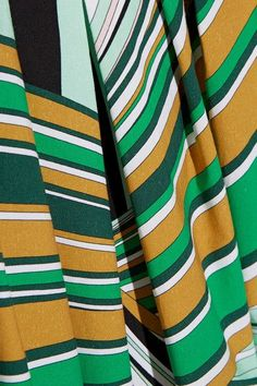 Emilio Pucci - Pleated Printed Stretch-cotton Poplin Midi Dress - Green - IT