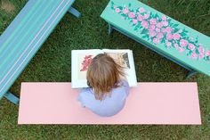 Give old furniture a fresh coat of paint and a second life on your patio or in your garden.