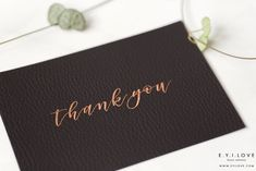 Luxurious leather textured thank you card, hand foiled in copper. Luxury Wedding Invitations, Wedding Stationery, Pocketfold Invitations, Rose Gold Foil, Leather Texture, Wax Seals, Adele, Thank You Cards, Rsvp