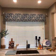 Faux Roman Shade/ Lined Mock Roman Valance/ Fake Roman Shade/ Charcoal-Ivory Ticking Stripe/ Custom Sizing Available! Decor, Interior, Decorative Curtain Rods, Home, White Damask, Roman Shades, Home Decor Fabric, Shades, Interior Design