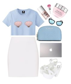 """""""Start Summer"""" by mode-222 ❤ liked on Polyvore featuring Guerlain, Helmut Lang, MICHAEL Michael Kors, Benefit, Samsung, Topshop, Quay and Lancôme"""