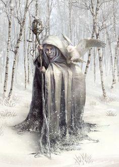 Witch of the White Wood Fantasy Poster Print Fantasy Witch, Witch Art, Beltane, Fantasy Kunst, Fantasy Art, Magia Elemental, Winter Goddess, Eslava, Ange Demon