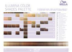 Wella Professionals Illumina Color Shades Palette (34 shades).