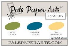 Stampin' Up! Color Inspiration: Old Olive, Dapper Denim, So Saffron