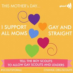 Tell the Boy Scouts they shouldn't have ejected Jennifer Tyrrell as den leader of her son's den just because she is a lesbian.
