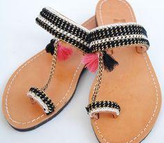 Boho sandal - black color