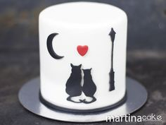 Tarta San Valentín de gatos