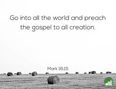 Go into all the world and preach the gospel to all creation. Amen! www.reachavillage.org