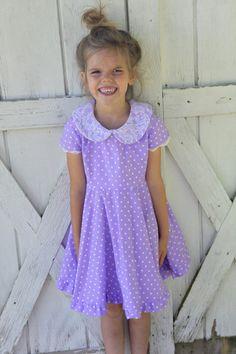 Tea Party Purple Polka Dot Vintage Inspired by Meadowlarkshop, $30.00