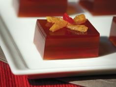 """An """"Old Fashioned"""" cocktail, in jelly form."""