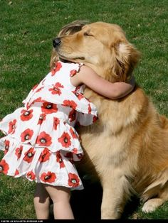 "aplacetolovedogs: "" Best dog hug ever! I will protect you all the days of my life, my little friend! yummie4mytummie Visit our poster store Rover99.com """