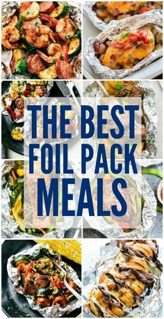 Pack Meals The Best Foil Pack Meals for camping, on the grill, or that can even be baked!The Best Foil Pack Meals for camping, on the grill, or that can even be baked! Tin Foil Dinners, Foil Packet Dinners, Foil Pack Meals, Foil Packet Recipes, Foil Packet Potatoes, Chicken Foil Packets, Hobo Packets, Grilled Foil Packets, Cooking Recipes