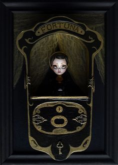Fortuna - mini doll with display - fortune telling machine by karolinfelix, via Flickr