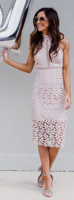 Beige Lace Dress / Grey SandalsGemma' Halter Lace Sheath Dress  Trending Summer Spring Fashion Outfit to Try This 2017 Great for Wedding,casual,Flowy,Black,Maxi,Idea,Party,Cocktail,Hippe,Fashion,Elegant,Chic,Bohemian,Hippie,Gypsy,Floral