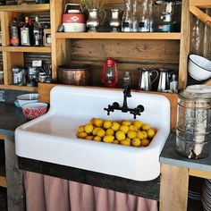 Deep Cast Iron High Back Utility Sink Cora 42 Inch Cast Iron Farmhouse Drainboard Sink – 8 Inch Faucet Drillings Rustic Kitchen, Country Kitchen, Vintage Kitchen, New Kitchen, Kitchen Sinks, Kitchen Ideas, Bathroom Sinks, Kitchen Redo, Basement Kitchen