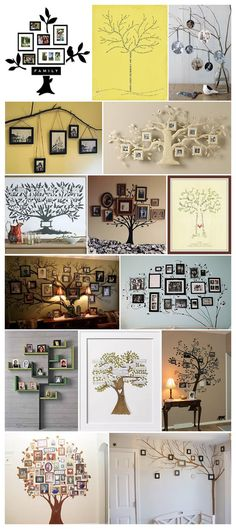 Ideas Family Tree Crafts Decor For 2019 Tree Crafts, Diy Crafts, Family Tree Wall, Family Trees, Family Tree Picture Frames, Family Tree With Pictures, Family Tree Photo, Picture Tree, Photo Tree