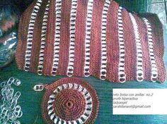Resultado de imagen para monederos tejidos con anillas de lata