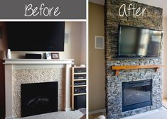 61 Best Before And After Images In 2020 Fireplace Remodel