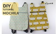 Pizpiretta: DIY Tutorial: Mochila Básica (fácil y rápida) Small Sewing Projects, Sewing For Kids, Sewing Hacks, Sewing Tutorials, Sewing Patterns, Backpack Tutorial, Diy Backpack, Backpack Pattern, Mochila Tutorial