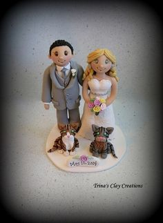 Wedding Cake Topper Custom Personalized by trinasclaycreations, $175.00