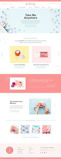Bonblissity Shopify website design by Aeolidia