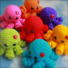 Octopus Octopi abound! The octopus is an amazing sea creature that can be mesmerizing, especially with its ability to squeeze into small spaces! If you love the octopus or know someone who does, these cute and adorable octopus amigurumis will surely bring a smile to their faces. 1. You Octopi My Heart by Sweet N …